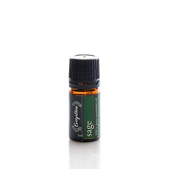 Sage essential oil, 100% pure and natural, for aromatherapy 5ml.