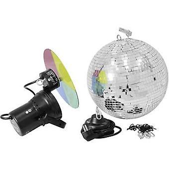 50101860 HV halogen Mirror ball set incl. motor, incl. color gels 30 cm