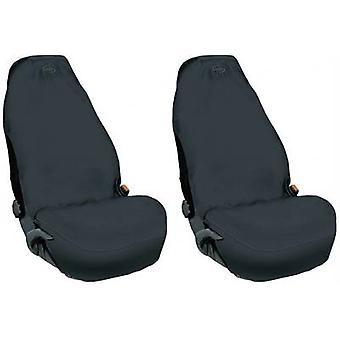 074011 Seat covers 2x Fleece Black Driver's seat