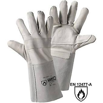 L+D worky RAZZO-jnr. 1826J Full-grain cowhide Welding gloves Size (gloves): 8, M EN 12477-A, EN 388 , EN 407 CAT II 1 pair