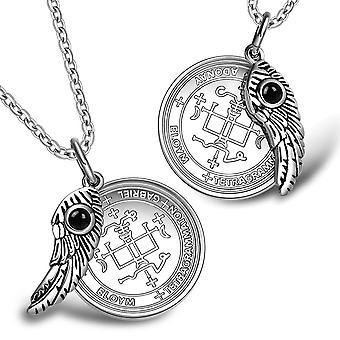 Kærlighed par Ærkeenglen Gabriel Sigil magiske vinger amuletter sæt