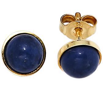 Lazuryt kolczyki Kolczyki niebieskie 333 złoto żółte złoto 2 Lapis blue kolczyk złoto