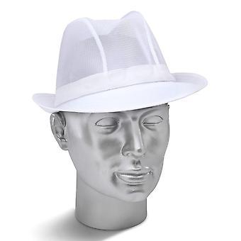 Click Smart Nylon Mesh White Trilby - Tw