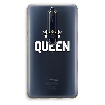 Nokia 6 (2018) Transparent Case (Soft) - Queen black