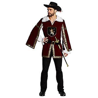 Ridder-musketier mens kostuum middeleeuwse carnaval