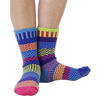 Bluebell recycled cotton multicolour odd-socks   Crafted by Solmate