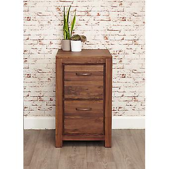 Mayan Walnut Two Drawer Filing Cabinet Brown - Baumhaus