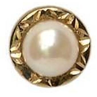 David Van Hagen kultivierte Perle 9ct Tie TAC - Perle