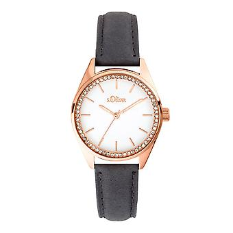 s.Oliver women's watch wristwatch leather SO-3678-LQ