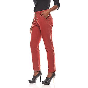 B.C.. best connections casual women's boyfriend jeans pants Red