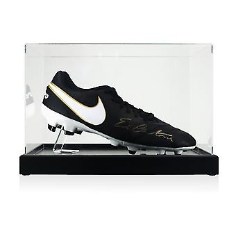 Eric Cantona Signed Football Boot In Display Case