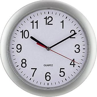 Silver Quartz Wall Clock