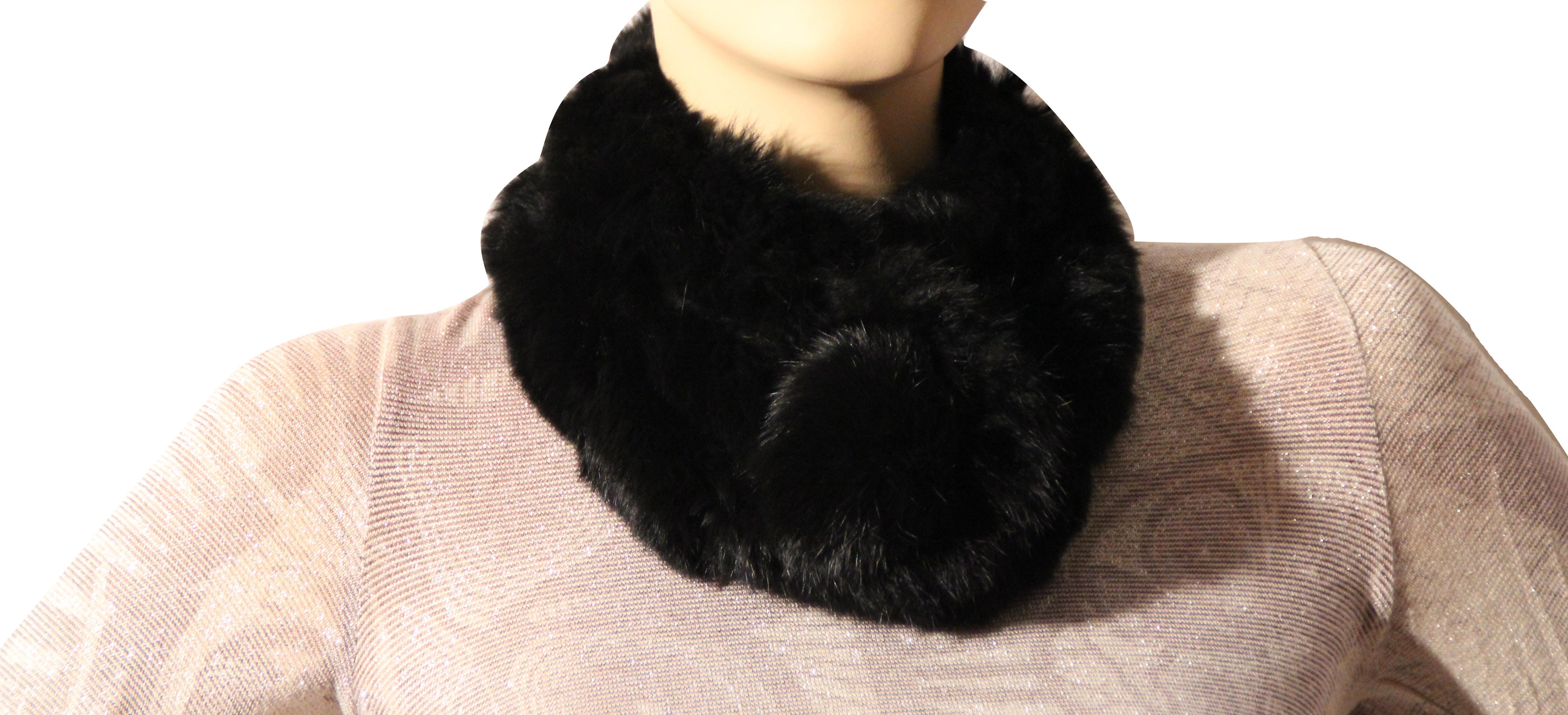 Waooh - Fashion - scarf knitted rex rabbit fur