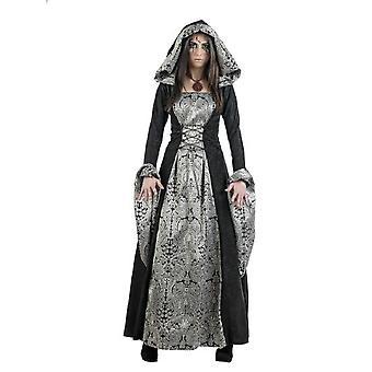 Gothickleid señoras traje oscuro de Cassandra señora negro Halloween traje de las señoras vestido de gótico