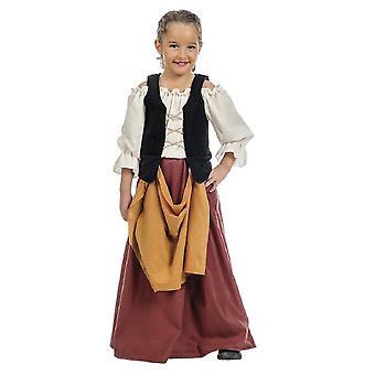 Mittelalterliches Bauern Mädchen Kostüm Magd Kinderkostüm