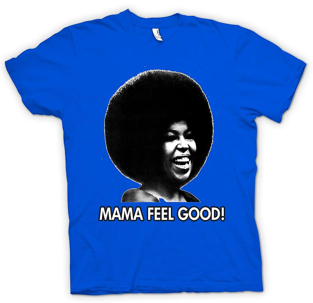 Mens T-shirt - Mama Feel Good - Soul - Afro