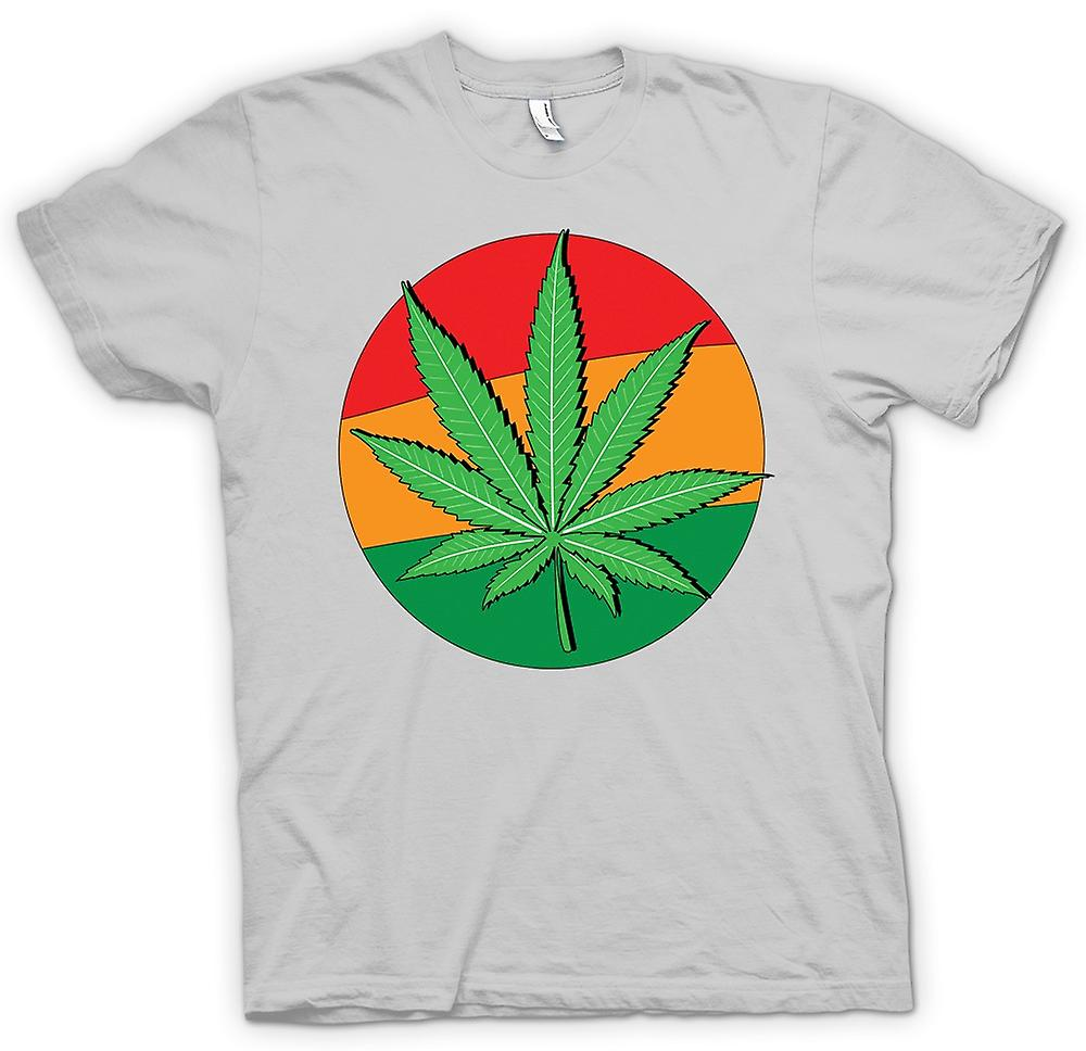 Herr T-shirt - Hash Leaf Jamaica flagga - Cool