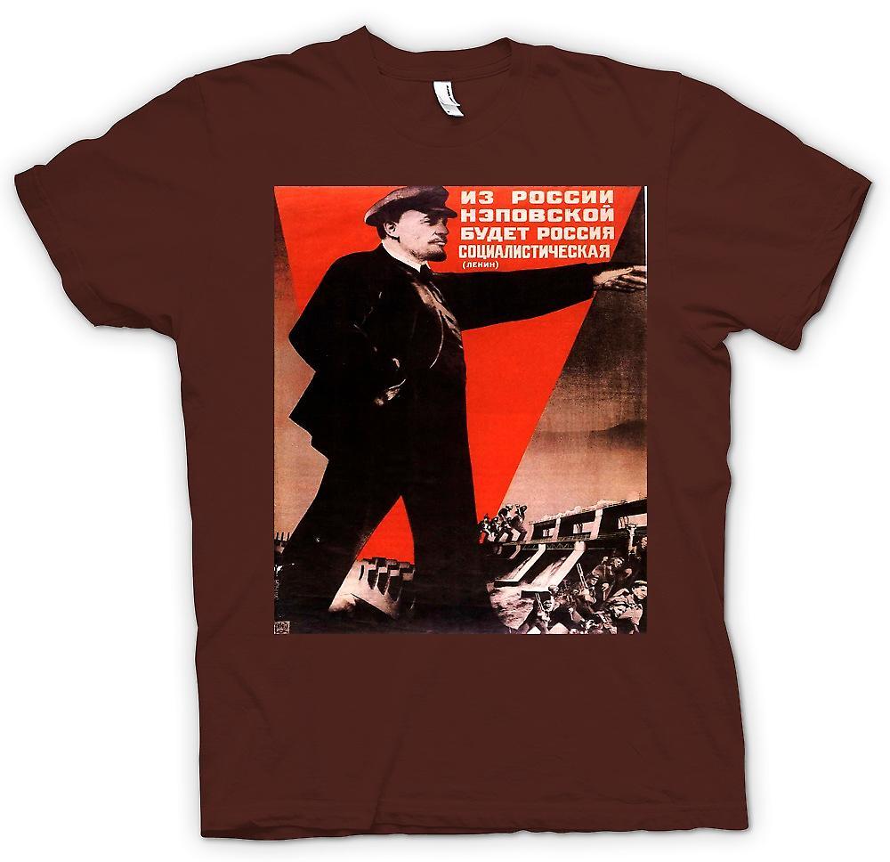 Mens T-shirt-Lenin russische Propaganda Poster