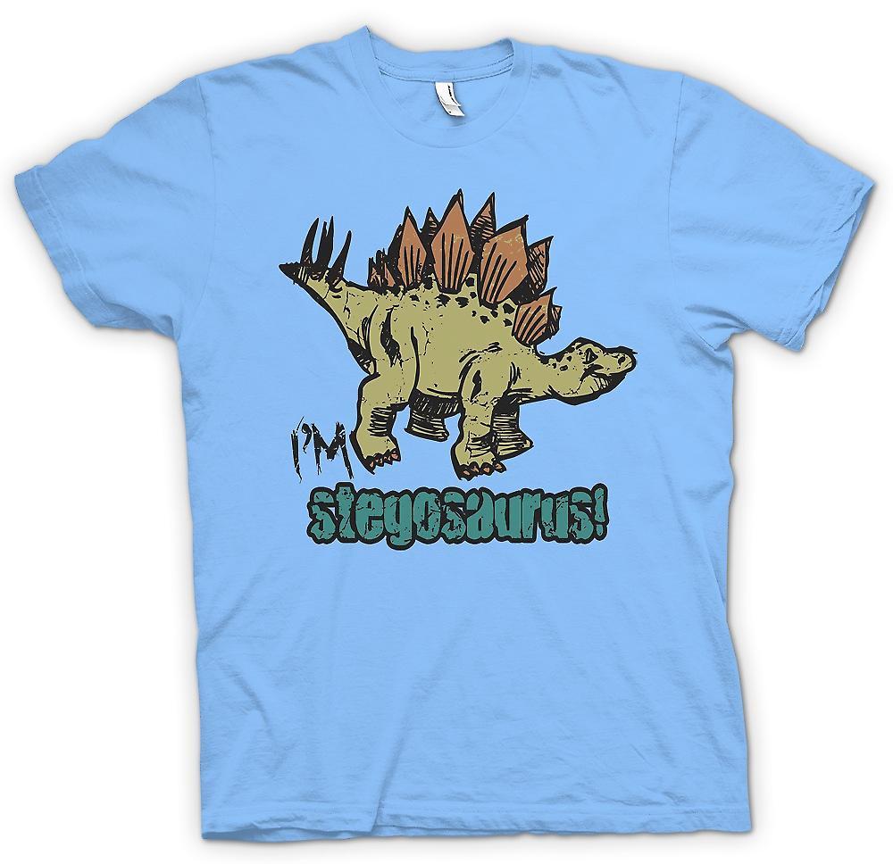 Mens T-shirt - Im Stegosaurus - Cool dinosaure