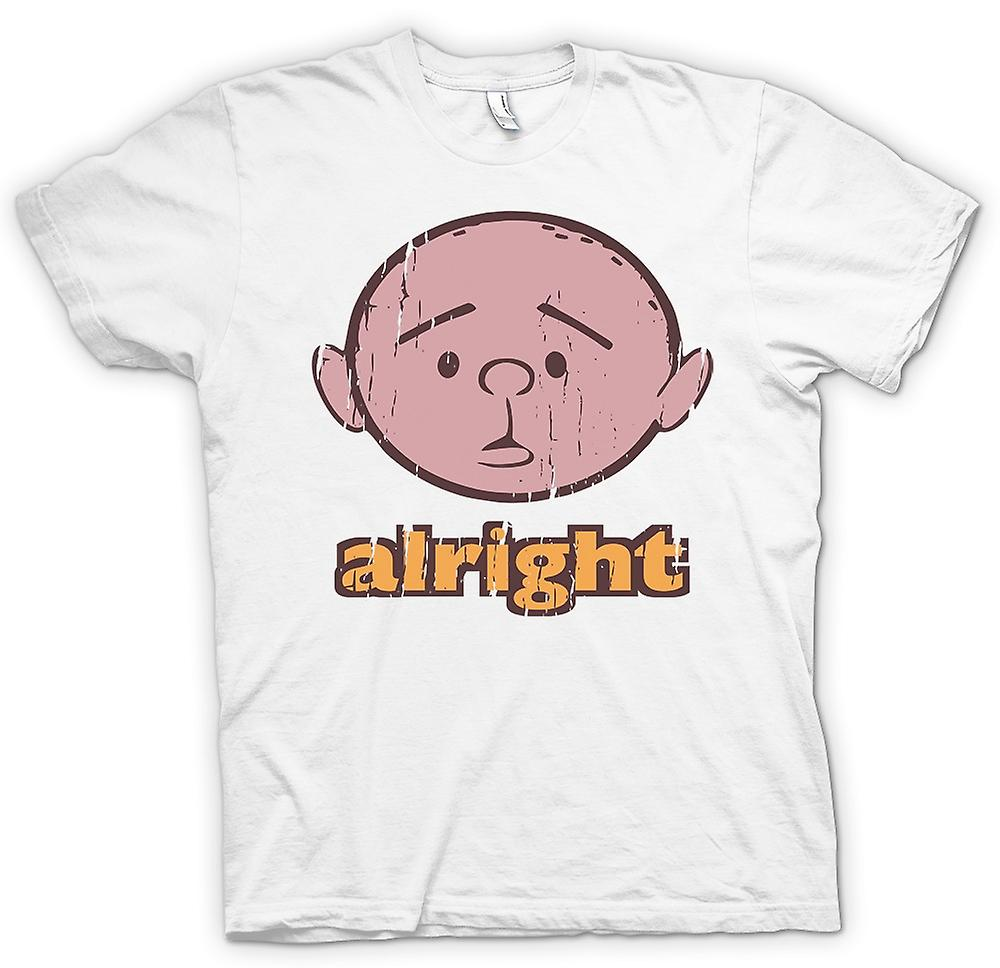 Womens T-shirt - Alright - Karl Pilkington - Philosopher Genius