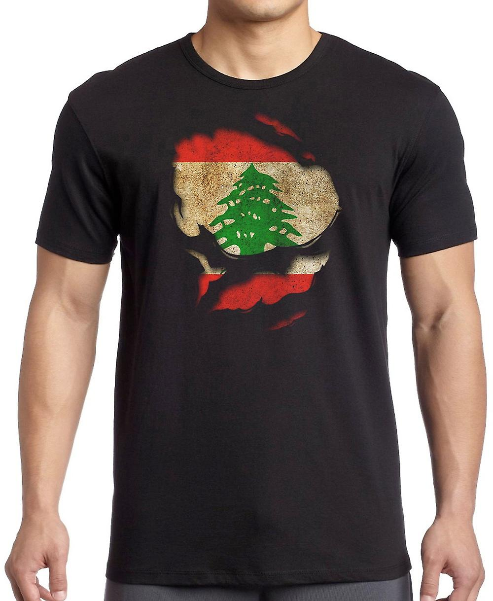 Lebanon_Lebanese Ripped Effect Under Shirt Kids T Shirt