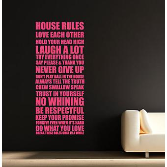 Family House Rules V2 Quote Wall Sticker