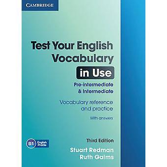 اختبار المفردات الإنجليزية الخاصة بك باستخدام ما قبل المتوسط والمتوسط