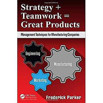 Strategy + Teamwork = Great Products: Management Techniques for Manufacturing Companies