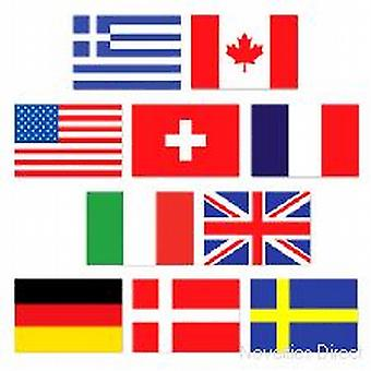 Mini International Flag Cutouts