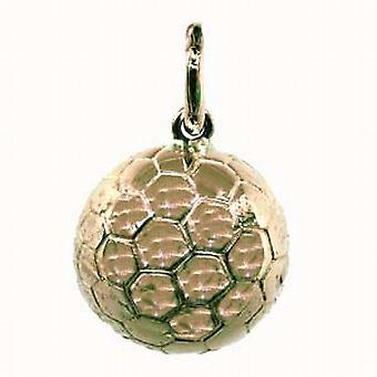 9ct Gold 14mm solid Football Pendant or Charm