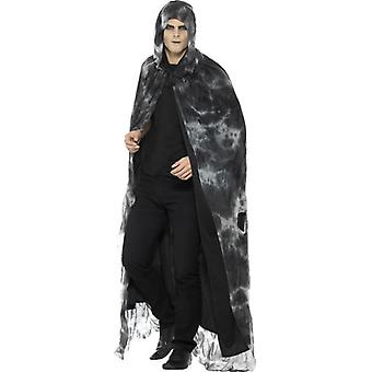 Herren Deluxe gebannt verfallene Cape Halloween Fancy Dress Zubehör