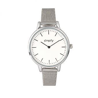 Simplify The 5800 Mesh Bracelet Watch - Silver