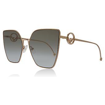 Fendi FF0323/S DDB Gold / Copper FF0323/S Cats Eyes Sunglasses Lens Category 2 Size 63mm