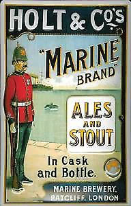 Holt & Co. Ales and Stout embossed steel sign