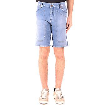 Shorts de algodão azul Jeckerson