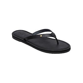 Roxy Womens Janel Casual Thong Beach Sandals - Black