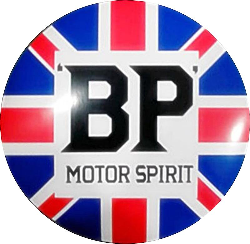 BP Motor Spirit large round metal wall sign   (ff)