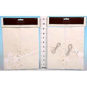 Carta del mestiere di arte-mestiere Wrapping Set - matrimonio - Pack di 4 set