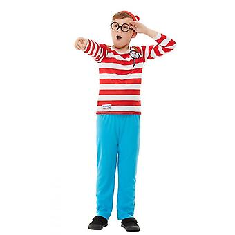 Wo ist Wally? Kinderkostüm Karneval Where's Wally? Deluxe Costume