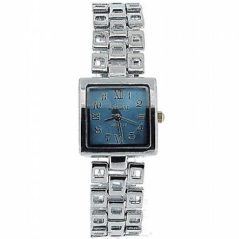 Olivia samling damer Square blå ratten armband Strap Dress Watch COS14