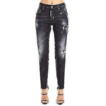 Dsquared2 Black Cotton Jeans