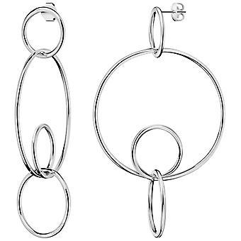 Calvin Klein Clink Polished Silver Stainless Steel Hoop Earrings KJ9PME000100