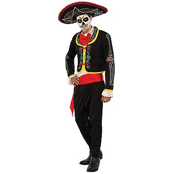Senor Muerto Day Of The Dead Mexican Skeleton Halloween Mens Costume