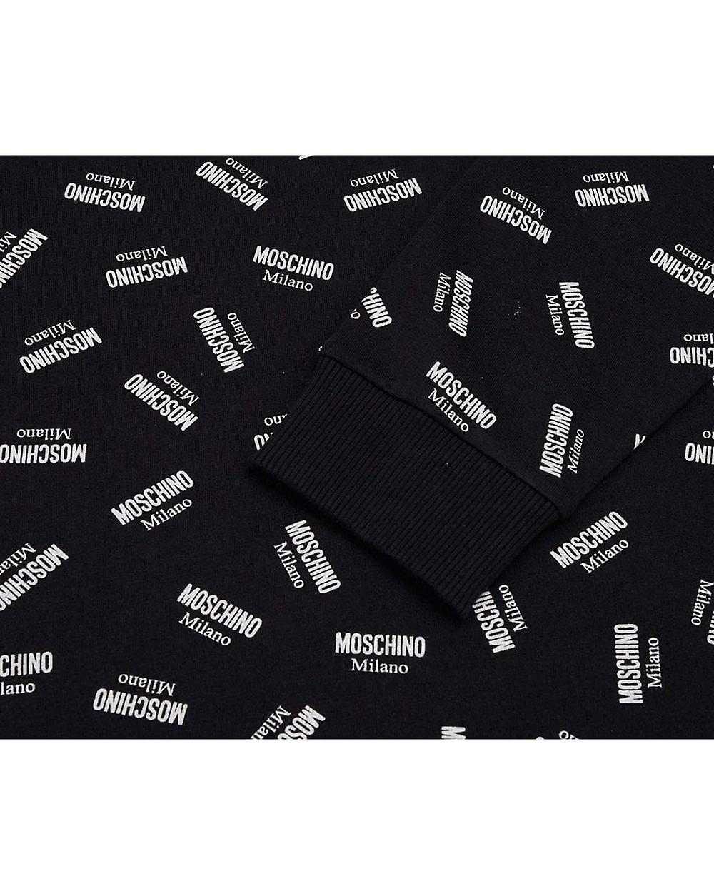 Moschino All Over Logo Hoodie Dress