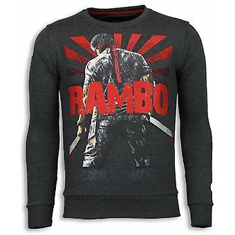Rambo-Rhinestone Sweatshirt-Anthracite