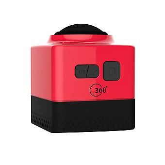 Cube360 outdoor wifi mini sports camera - hd panoramic 360 degree waterproof action camera, red
