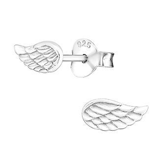 Vleugel - 925 Sterling Zilver Plain Ear Studs - W18828X