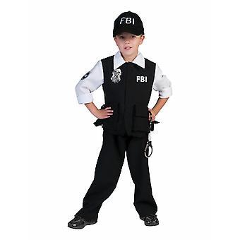 FBI Agente Bambini Costume Ragazzi Unità Speciale Carnevale Bambini Polizia Costume Carnevale