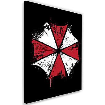 Picture on Canvas XXL Umbrella Corp Image Decor Red