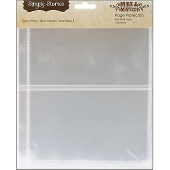 Mix & Match Sheet Protectors 10 Pkg 4X6 Ss2003